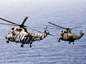 Navy and Air force Sea Kings