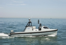 Halcyon, a small Unmanned Surface Vehicle (USV) – just 12 metres long and 3.5 metres wide