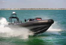 Image of the BAE Systems P950 Autonomous Rib at sea.