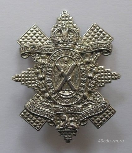 Кокарда 1st GLASGOW HIGHLANDERS ( HIGHLAND LIGHT INFANTRY )