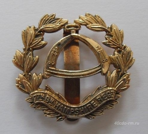 Кокарда 7th Bn HAMPSHIRE REGIMENT