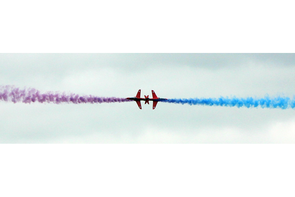 Red Arrows crossover winner of the Air Training Corps and Combined Cadet Force category