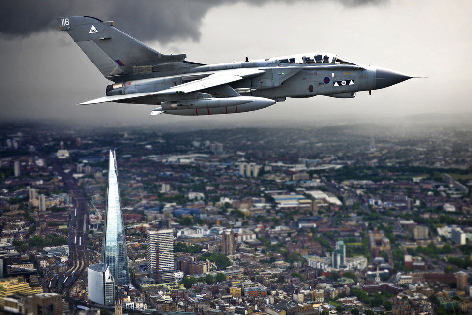 RAF Photograph of the Year: A Tornado GR4 flying over the Shard building in London