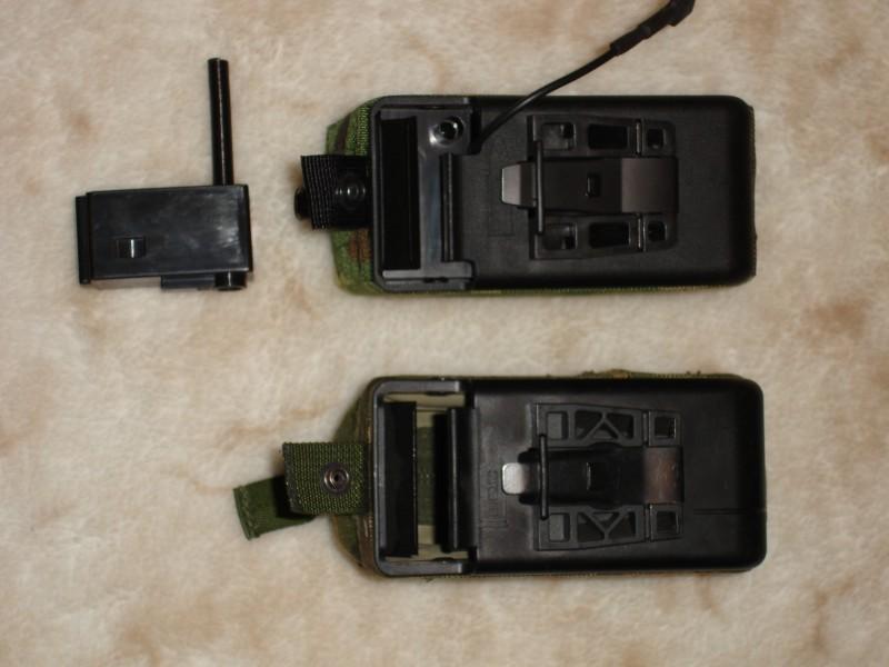 Вид сверху. MAG (слева) и реальный боевой короб (справа)