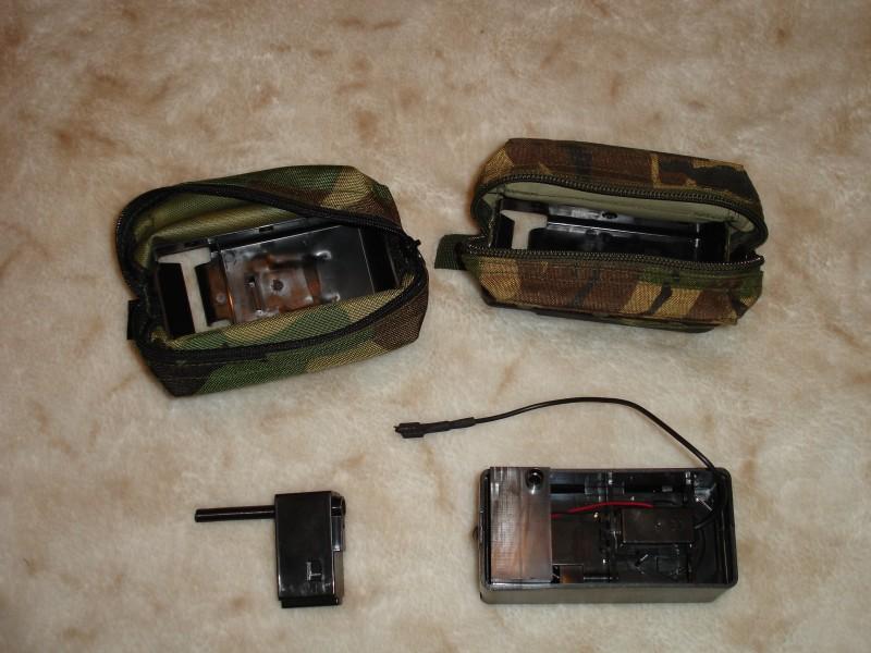 Вид изнутри. MAG (слева) и реальный боевой короб (справа)