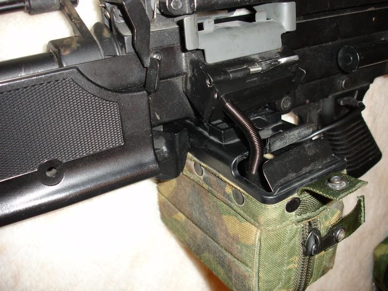 Переделанный MAG на страйкбольном пулемете A&K